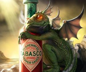 dragon, tabasco, and baby image