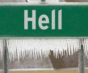 freezing, hell, and ice image
