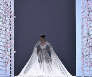 beauty, fashion, and wedding gown image