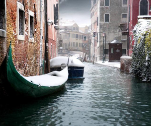 snow, space, and venice image