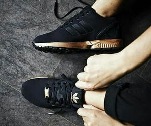 adidas, black, and gold image
