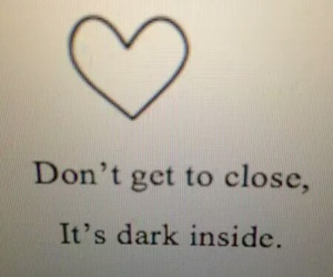 dark, quote, and love image