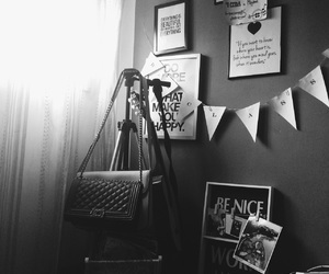 black, room, and roomdecor image