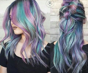 blue, braid, and colors image