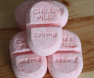 pink, chill, and pills image