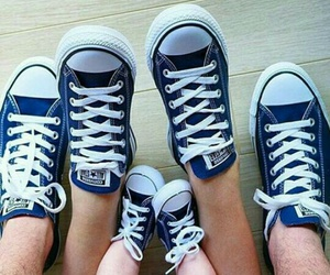 family, blue, and converse image