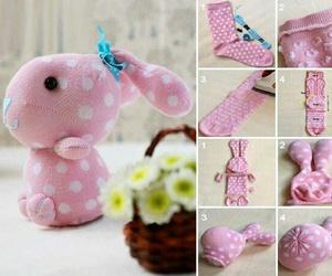 diy, bunny, and socks image