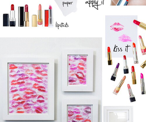 diy, lipstick, and kiss image