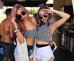 best friends, dyed hair, and goals image