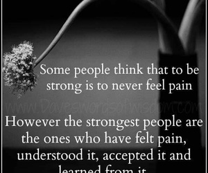 strong, pain, and quote image