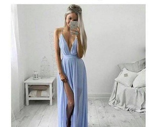 blue, clothes, and dresses image