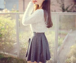 fashion, korean, and skirt image
