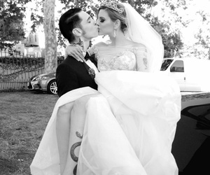 juliet simms, andy biersack, and wedding image