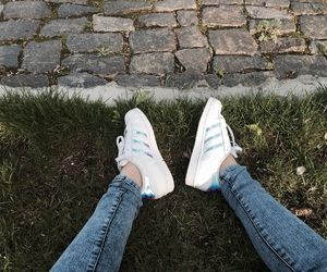 adidas, iridescent, and shoes image