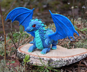 dragons, blue dragon, and fantasy creature image