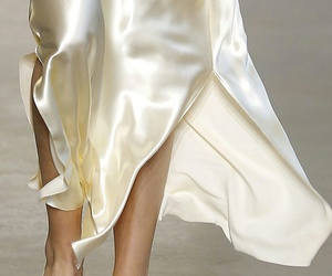 fashion, runway, and silk image