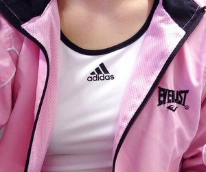 adidas, pink, and grunge image
