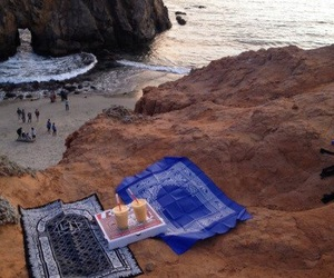 islam, beach, and pray image