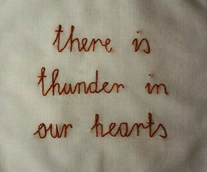 quotes, thunder, and heart image