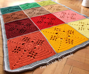 autumn colors, crochet blanket, and baby blanket image