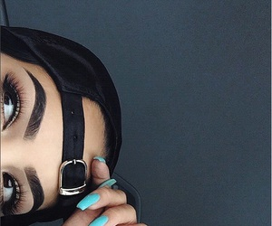 eyebrows, nails, and makeup image