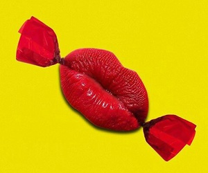candy, lips, and red image