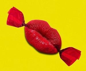 candy, lips, and minimalist image