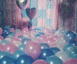 blue, pink, and balloons image