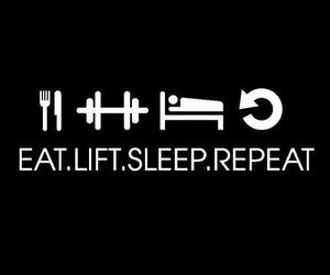 lift, sleep, and eat image