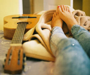 guitar, feet, and legs image