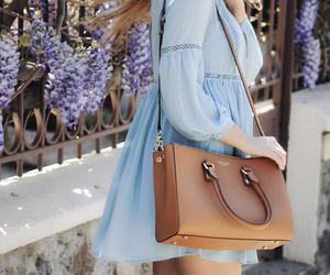 blue dress, boho, and chic image