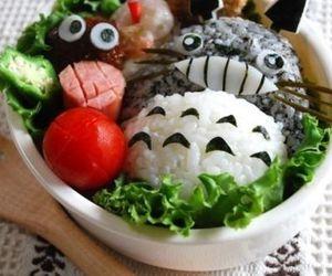 totoro, bento, and food image