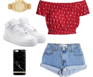 iphone, nike, and Polyvore image