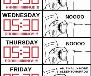 funny, morning, and sleep image