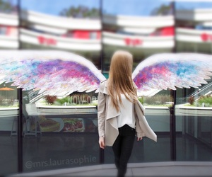 angel, blond, and fashion image
