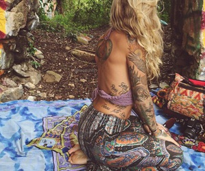 beautiful, hippie, and bohemian image
