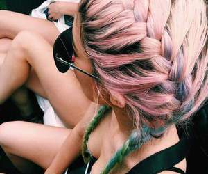 coachella, fashion, and hair image
