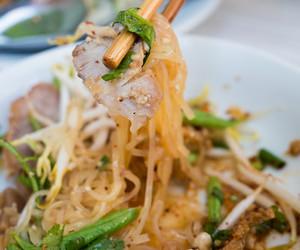 noodles, pork, and thai food image