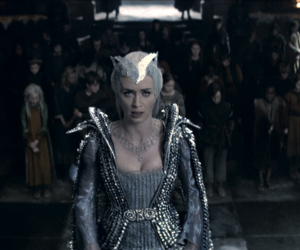 crown, Emily Blunt, and ice queen image