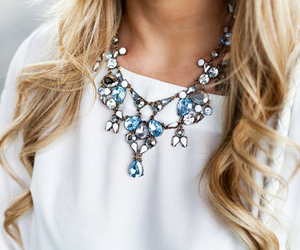 fashion, hair, and necklace image