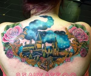 harry potter, tatoo, and poudlard image