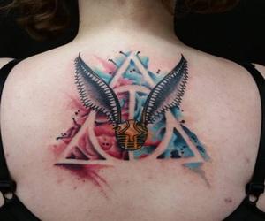 harry potter, tatoo, and tattoo image