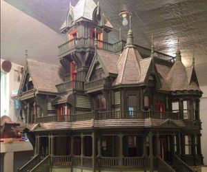 architecture, dollhouse, and Halloween image