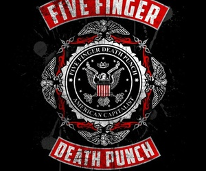 band, metal, and five finger death punch image