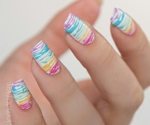nails, colorful, and manicure image