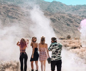 desert, fashion, and friends image