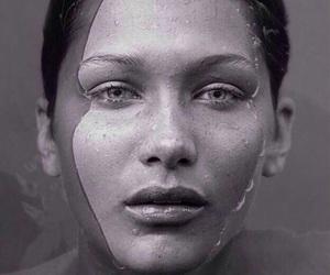 black & white, model, and photoshoot image