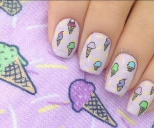 nails, ice cream, and pastel image