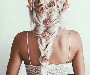 braid, roses, and flowers image