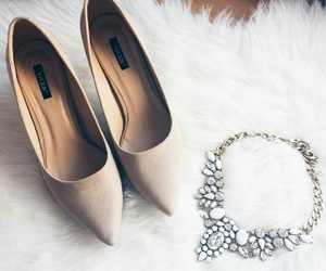 fashion, heels, and necklace image